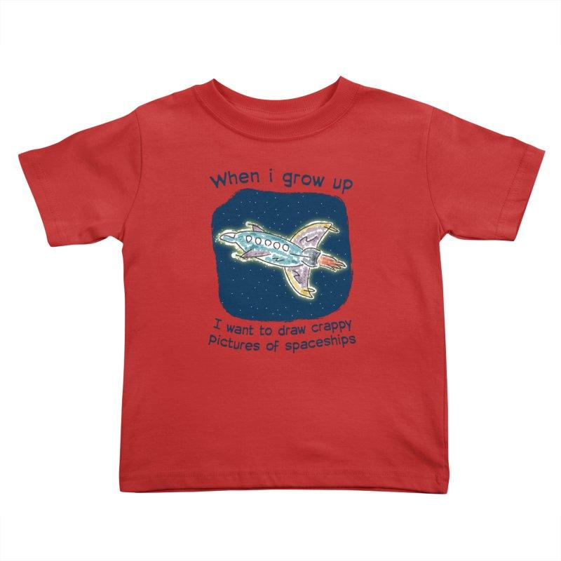Crappy Spaceships Kids Toddler T-Shirt by Puttyhead's Artist Shop