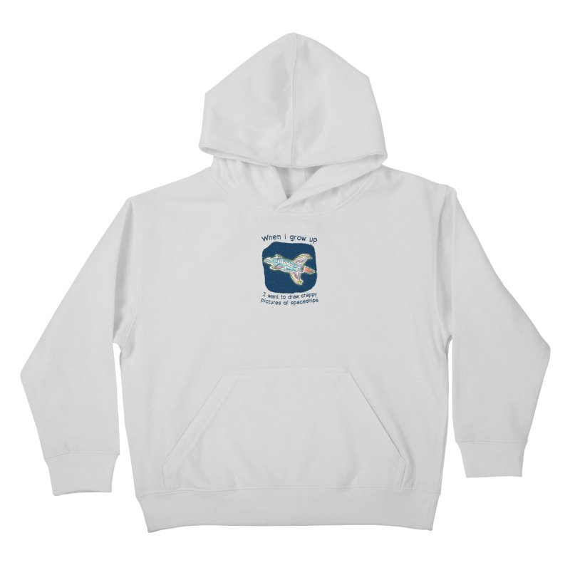 Crappy Spaceships Kids Pullover Hoody by Puttyhead's Artist Shop