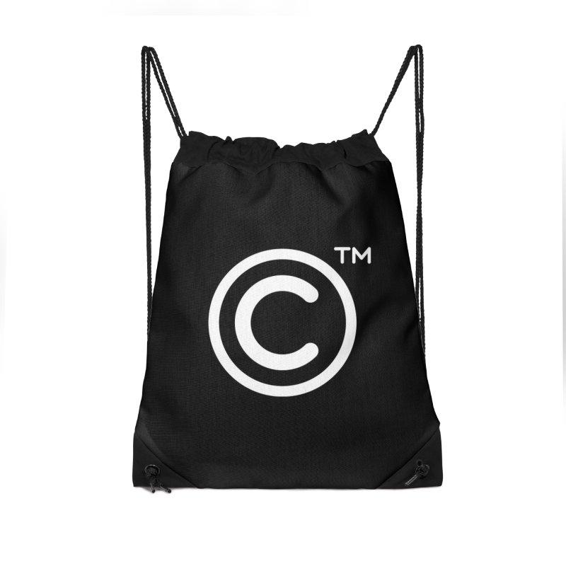 Copyright, Trademark Accessories Drawstring Bag Bag by Puttyhead's Artist Shop