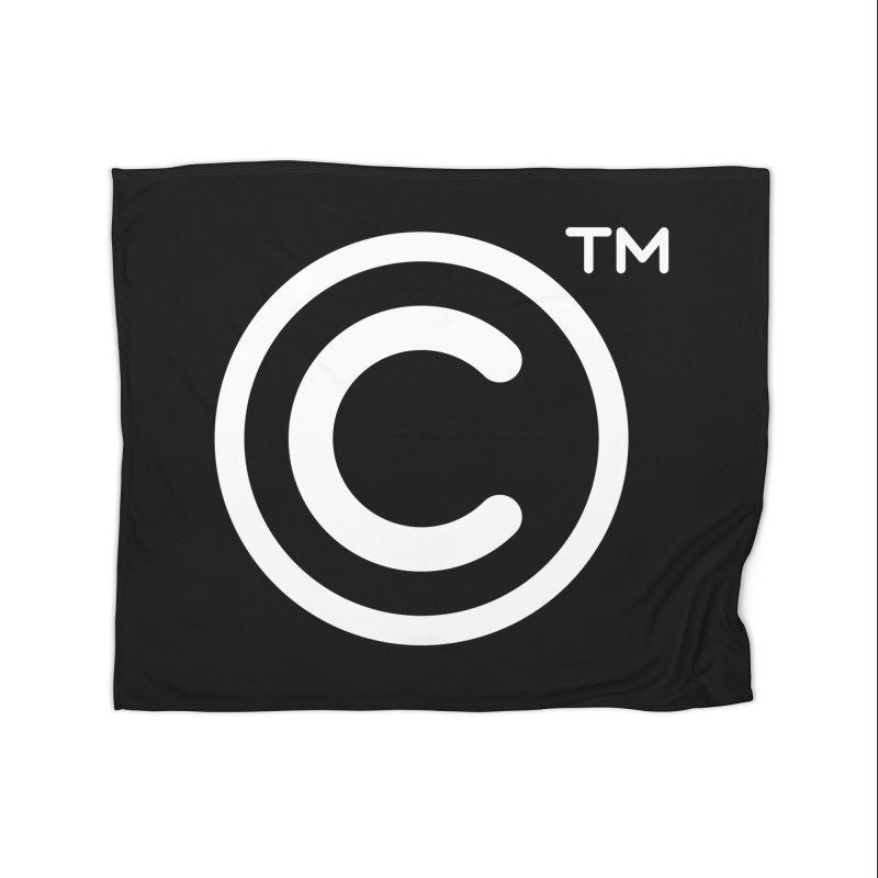 Copyright, Trademark Home Fleece Blanket Blanket by Puttyhead's Artist Shop