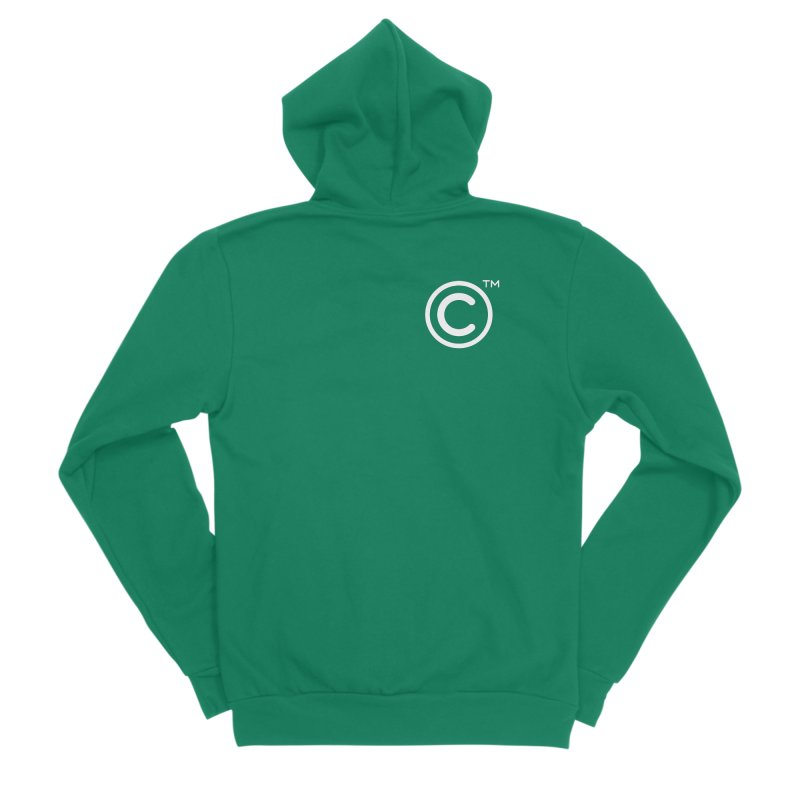 Copyright, Trademark Women's Sponge Fleece Zip-Up Hoody by Puttyhead's Artist Shop