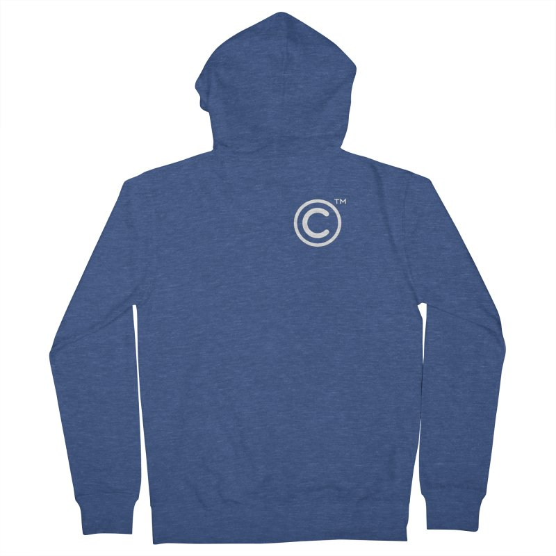 Copyright, Trademark Women's French Terry Zip-Up Hoody by Puttyhead's Artist Shop