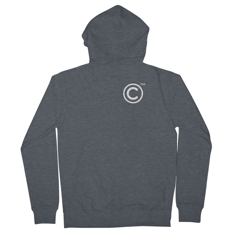 Copyright, Trademark Men's French Terry Zip-Up Hoody by Puttyhead's Artist Shop