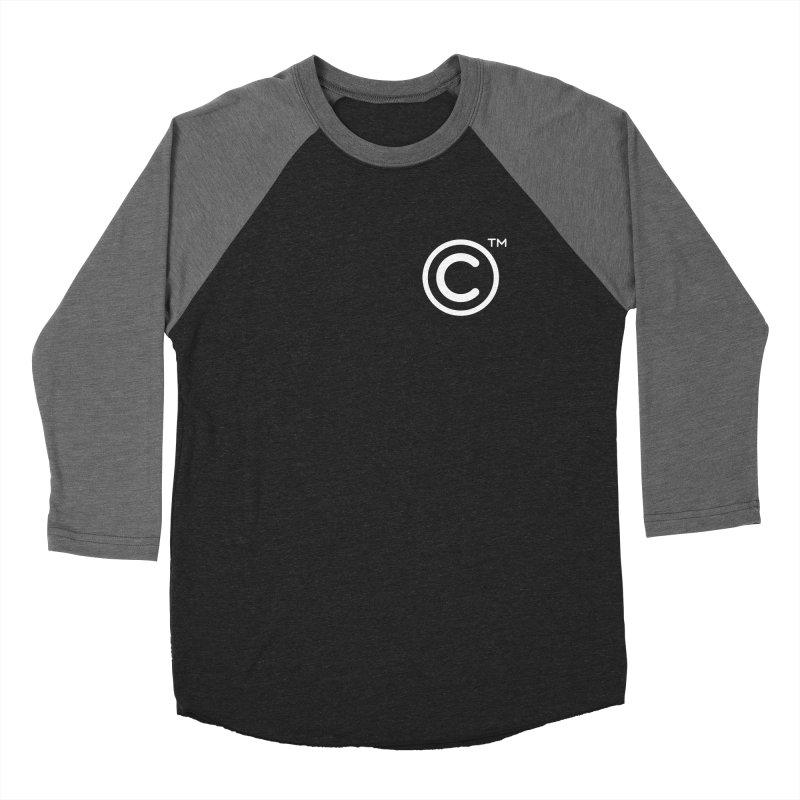 Copyright, Trademark Women's Baseball Triblend Longsleeve T-Shirt by Puttyhead's Artist Shop
