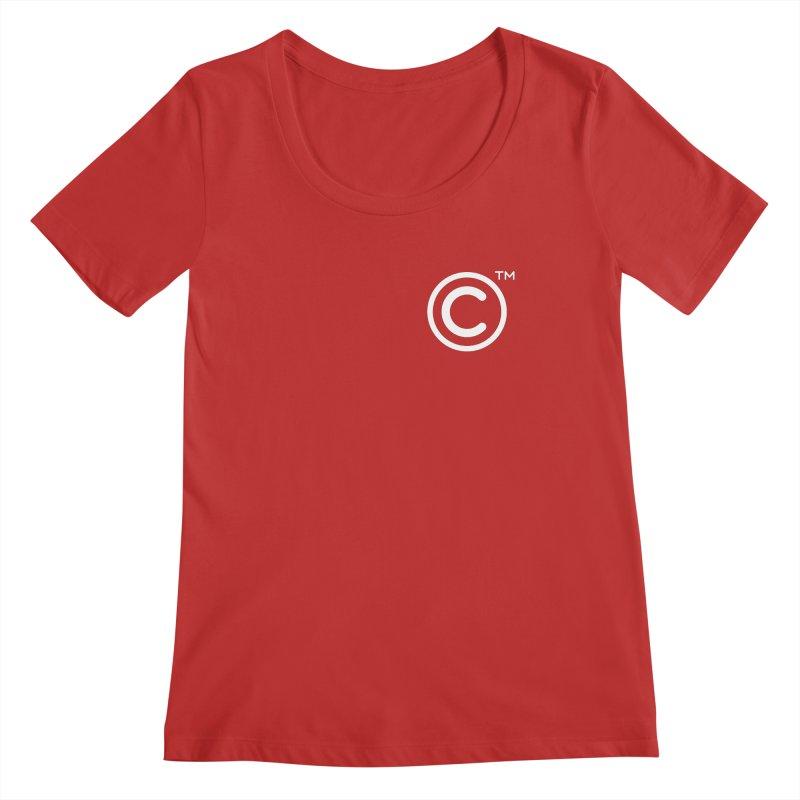 Copyright, Trademark Women's Regular Scoop Neck by Puttyhead's Artist Shop