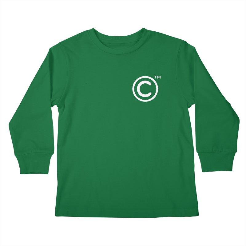 Copyright, Trademark Kids Longsleeve T-Shirt by Puttyhead's Artist Shop