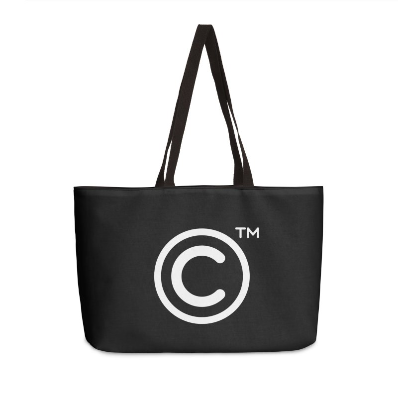 Copyright, Trademark Accessories Weekender Bag Bag by Puttyhead's Artist Shop