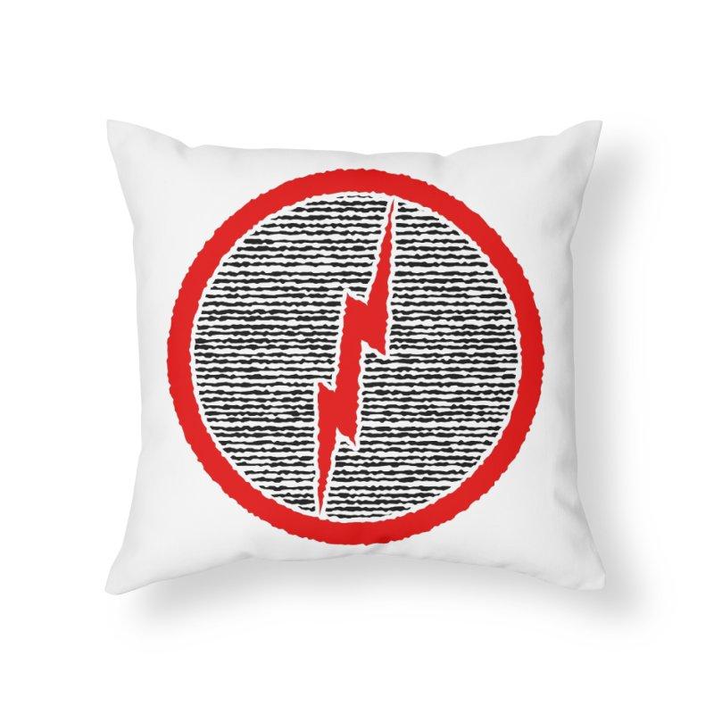 Lightning Bolt Home Throw Pillow by Puttyhead's Artist Shop