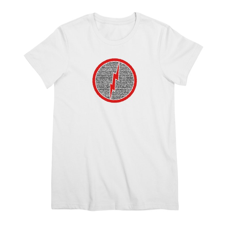 Lightning Bolt Women's Premium T-Shirt by Puttyhead's Artist Shop