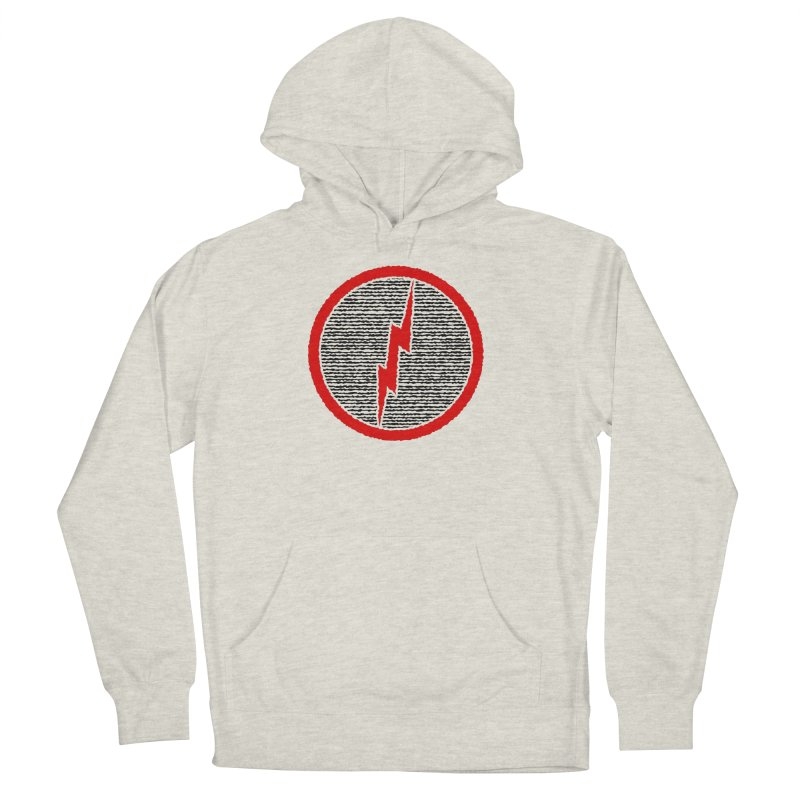 Lightning Bolt Men's French Terry Pullover Hoody by Puttyhead's Artist Shop