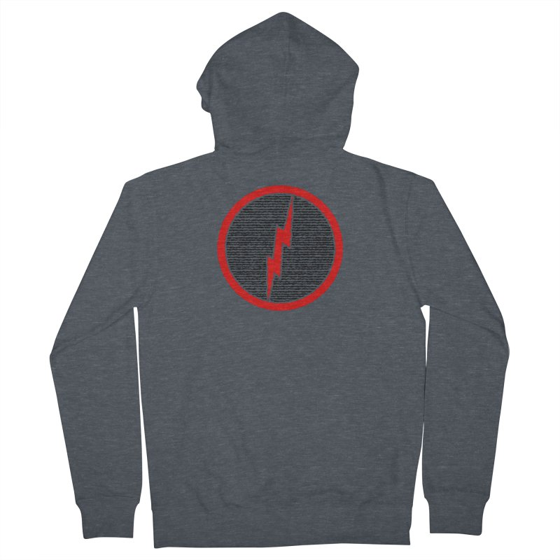 Lightning Bolt Women's French Terry Zip-Up Hoody by Puttyhead's Artist Shop