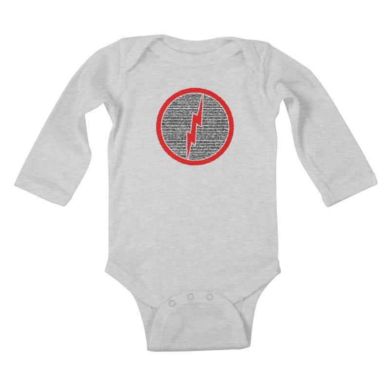 Lightning Bolt Kids Baby Longsleeve Bodysuit by Puttyhead's Artist Shop