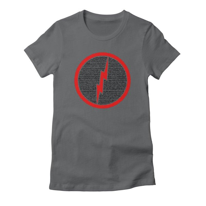 Lightning Bolt Women's Fitted T-Shirt by Puttyhead's Artist Shop