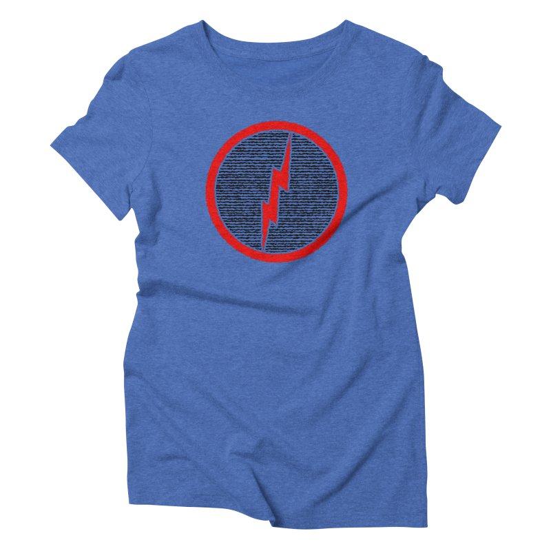 Lightning Bolt Women's Triblend T-Shirt by Puttyhead's Artist Shop