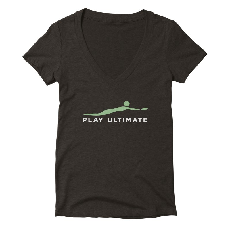 Play Ultimate Two Women's Deep V-Neck V-Neck by Puttyhead's Artist Shop