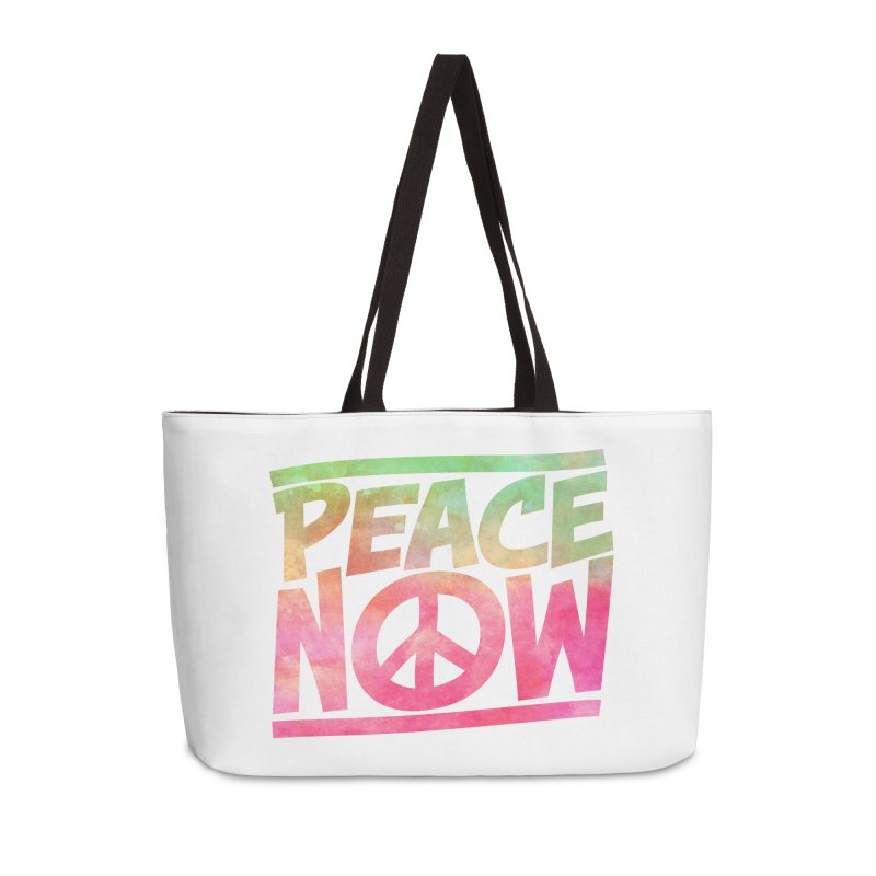 Peace Now Accessories Weekender Bag Bag by Puttyhead's Artist Shop