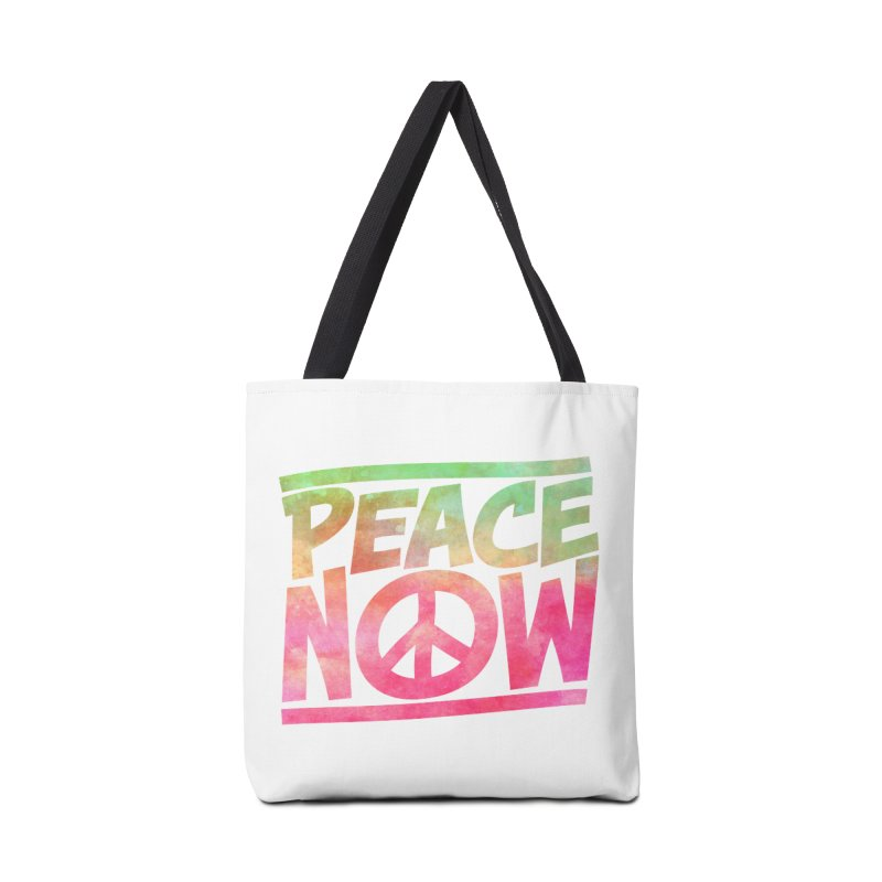 Peace Now Accessories Tote Bag Bag by Puttyhead's Artist Shop