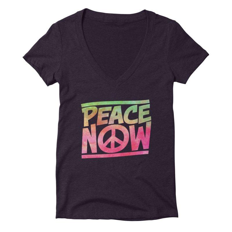 Peace Now Women's Deep V-Neck V-Neck by Puttyhead's Artist Shop