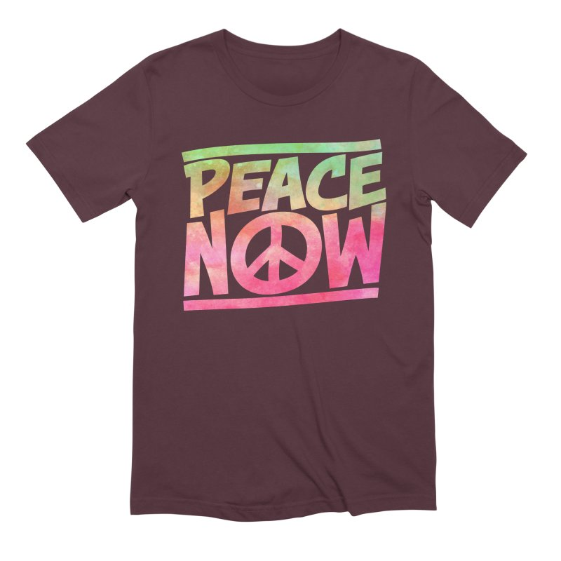 Peace Now Men's Extra Soft T-Shirt by Puttyhead's Artist Shop