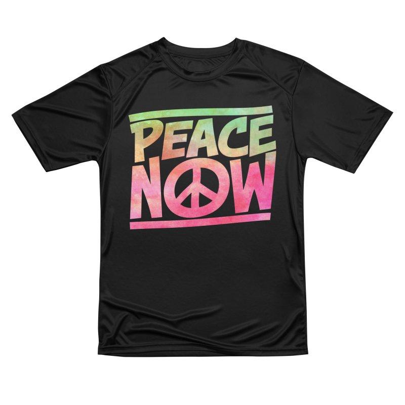 Peace Now Women's Performance Unisex T-Shirt by Puttyhead's Artist Shop