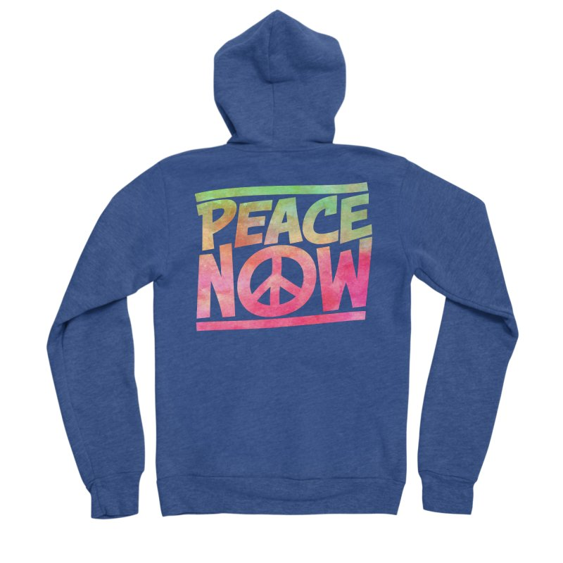 Peace Now Women's Sponge Fleece Zip-Up Hoody by Puttyhead's Artist Shop