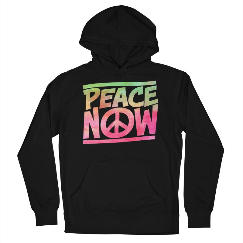 Peace Now Men's French Terry Pullover Hoody by Puttyhead's Artist Shop