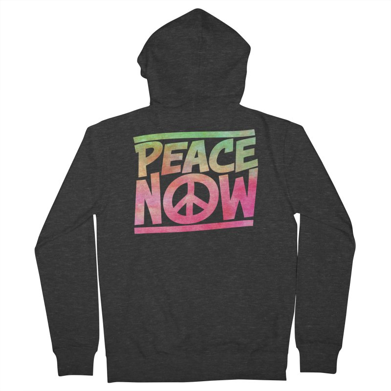 Peace Now Women's French Terry Zip-Up Hoody by Puttyhead's Artist Shop