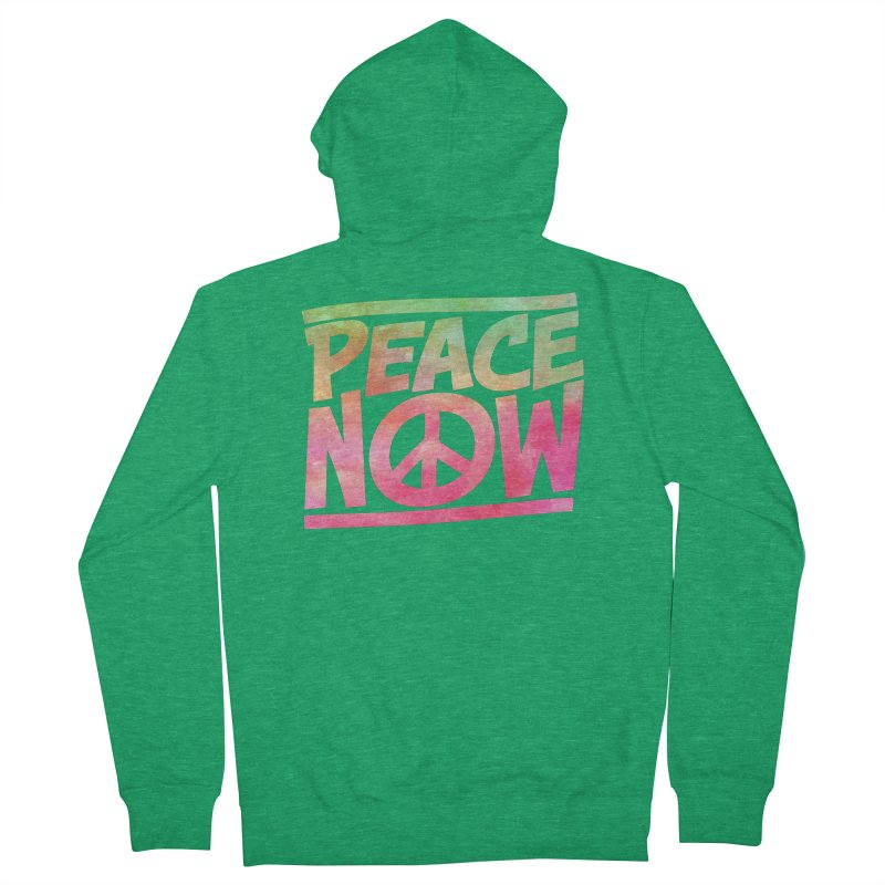 Peace Now Men's Zip-Up Hoody by Puttyhead's Artist Shop