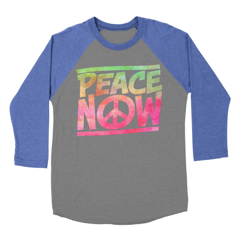 Peace Now Men's Baseball Triblend Longsleeve T-Shirt by Puttyhead's Artist Shop