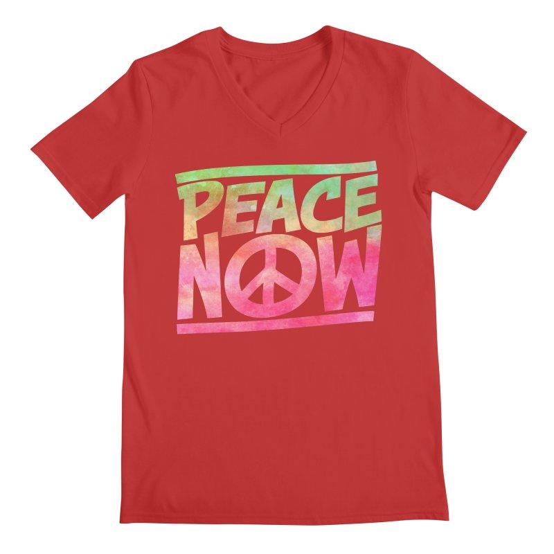 Peace Now Men's Regular V-Neck by Puttyhead's Artist Shop
