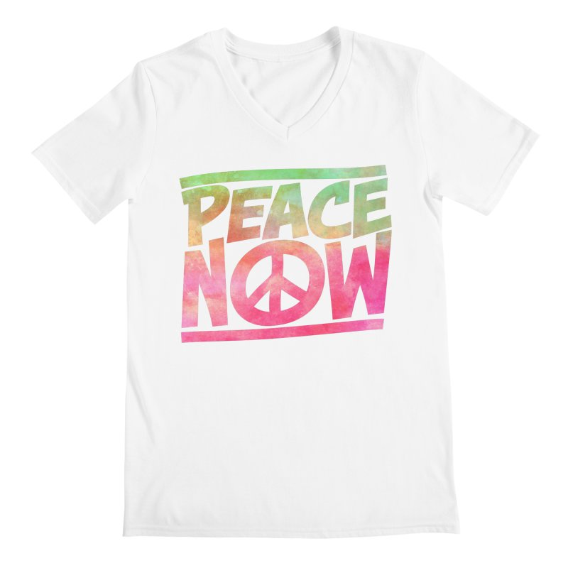 Peace Now Men's V-Neck by Puttyhead's Artist Shop