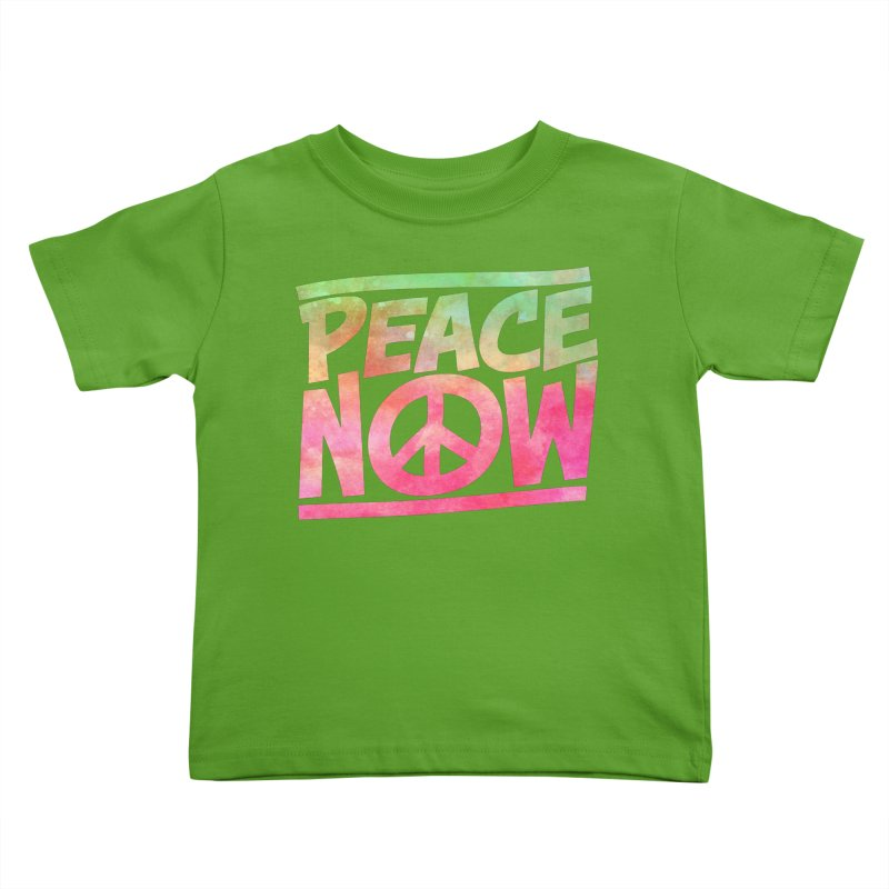 Peace Now Kids Toddler T-Shirt by Puttyhead's Artist Shop