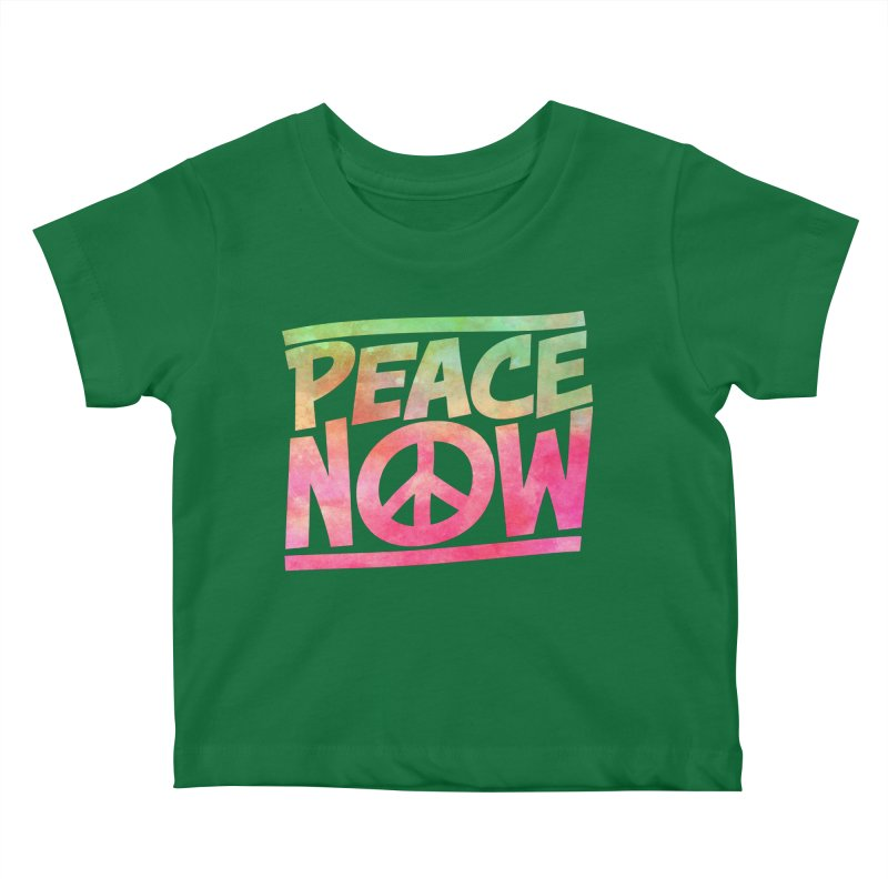 Peace Now Kids Baby T-Shirt by Puttyhead's Artist Shop