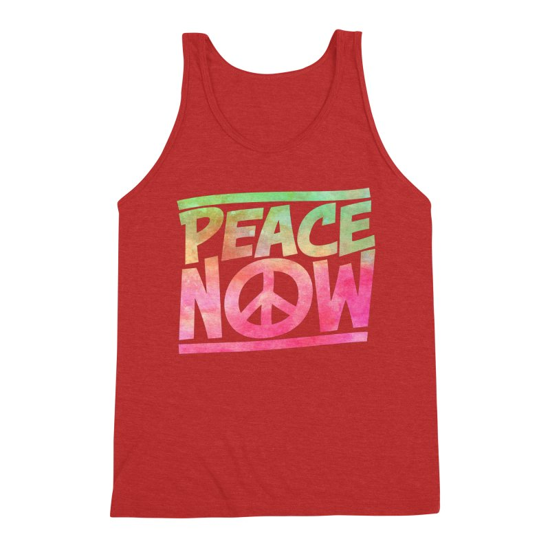 Peace Now Men's Triblend Tank by Puttyhead's Artist Shop