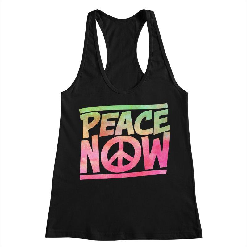 Peace Now Women's Racerback Tank by Puttyhead's Artist Shop