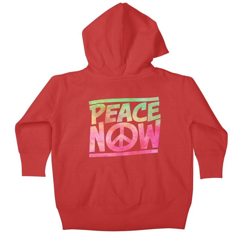 Peace Now Kids Baby Zip-Up Hoody by Puttyhead's Artist Shop