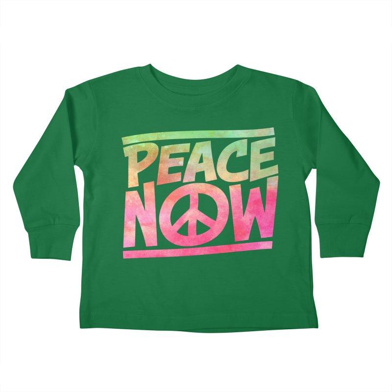 Peace Now Kids Toddler Longsleeve T-Shirt by Puttyhead's Artist Shop