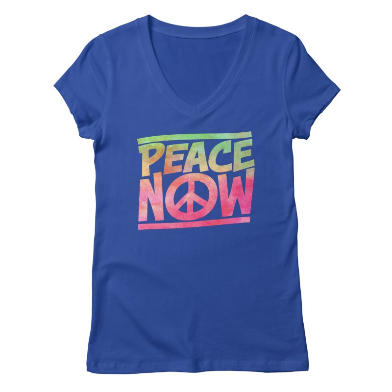 Peace Now Women's Regular V-Neck by Puttyhead's Artist Shop