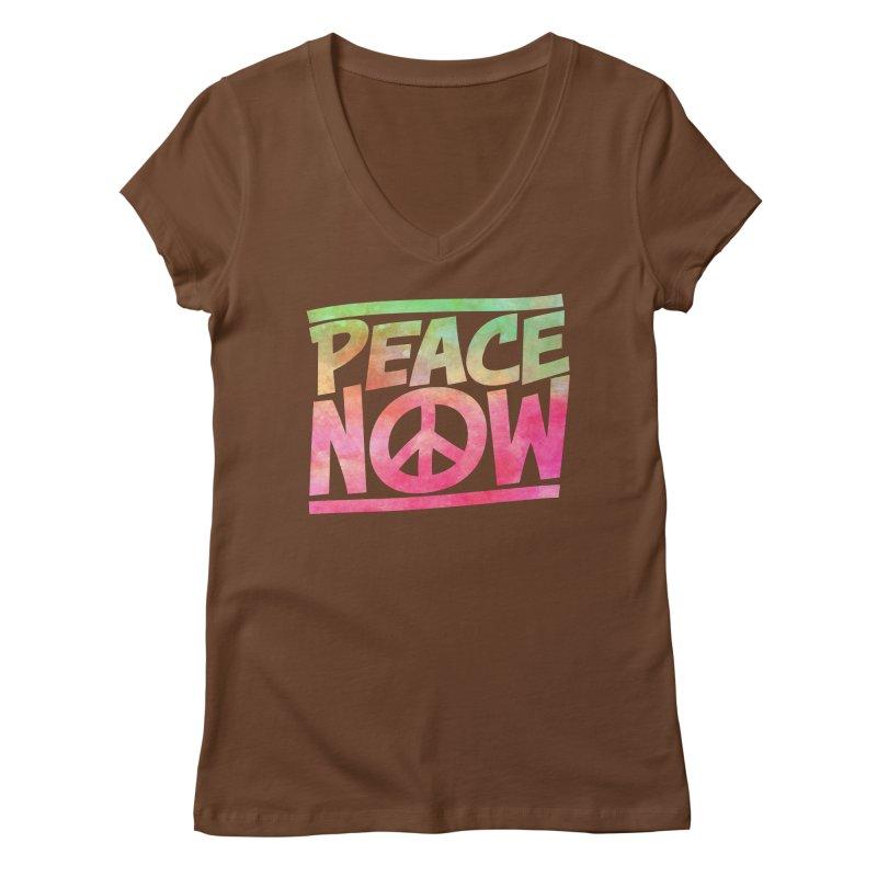 Peace Now Women's Regular V-Neck by Puttyhead's Artist Shop
