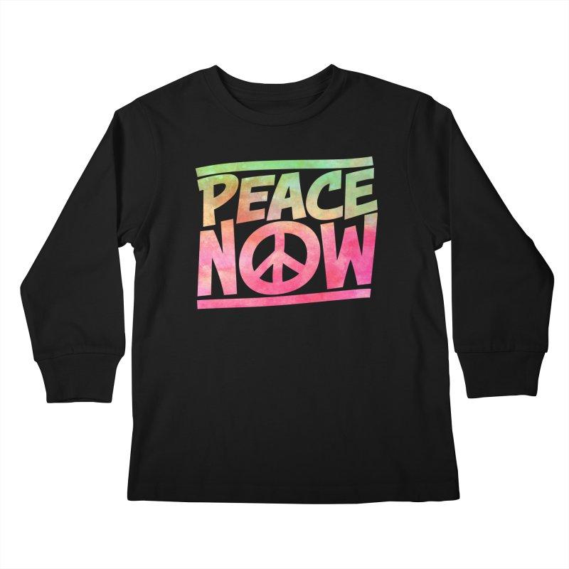Peace Now Kids Longsleeve T-Shirt by Puttyhead's Artist Shop