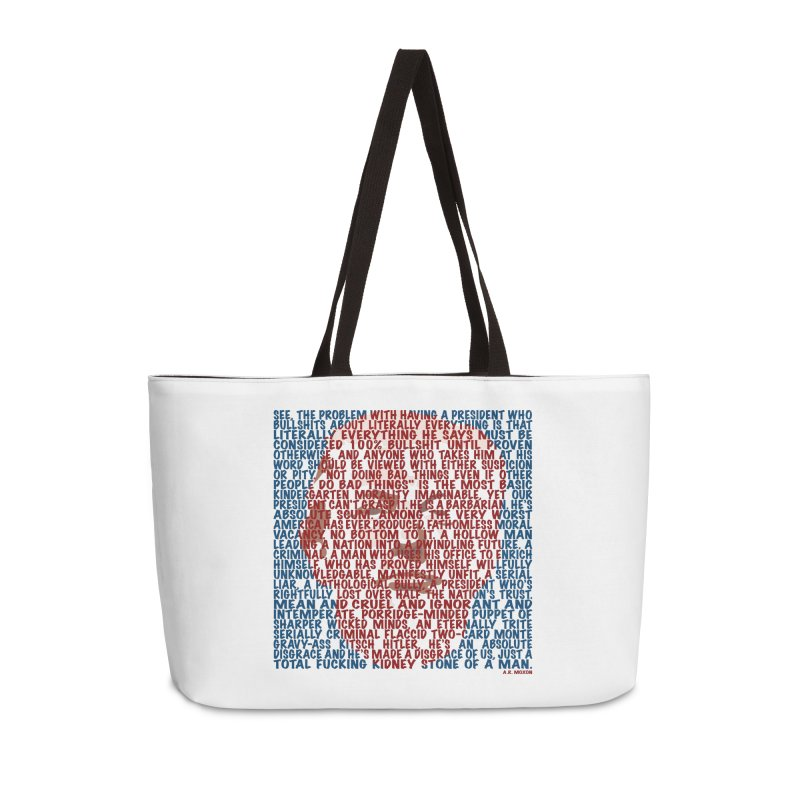 Moxon Accessories Weekender Bag Bag by Puttyhead's Artist Shop