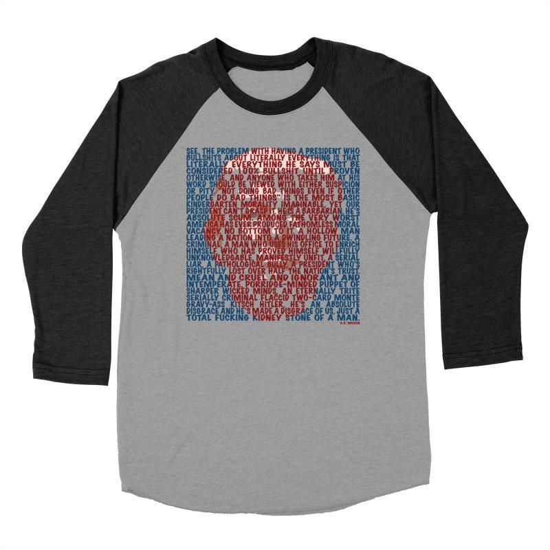 Moxon Women's Baseball Triblend Longsleeve T-Shirt by Puttyhead's Artist Shop