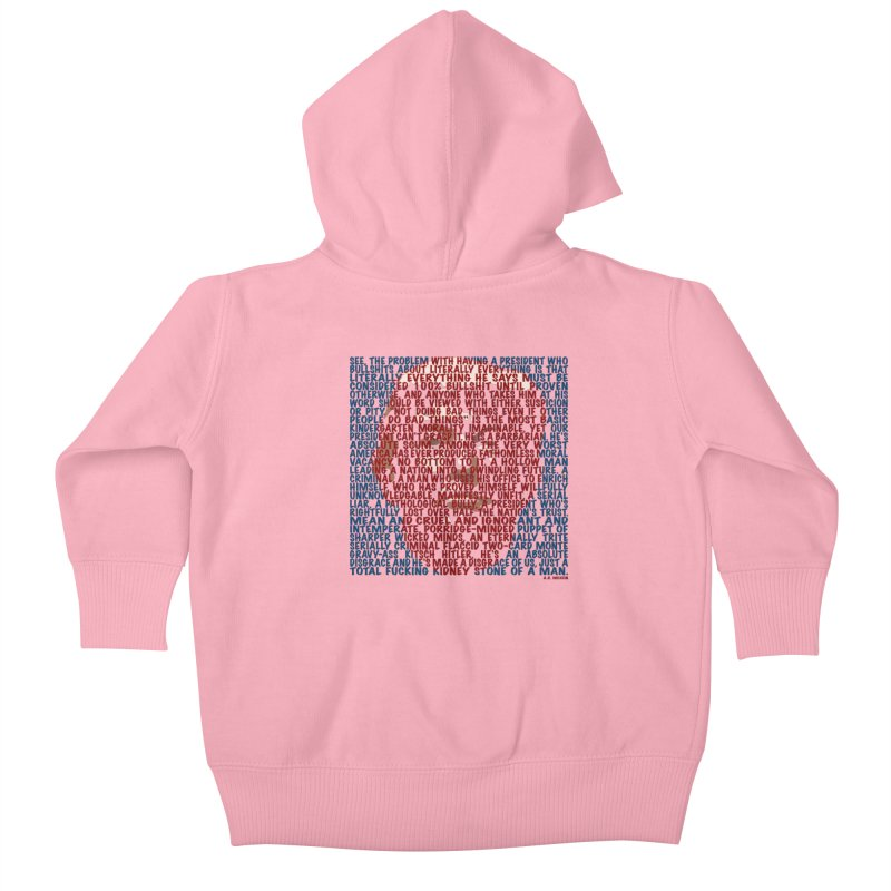 Moxon Kids Baby Zip-Up Hoody by Puttyhead's Artist Shop