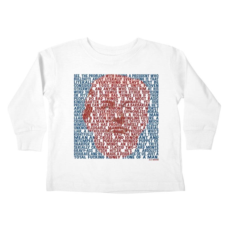 Moxon Kids Toddler Longsleeve T-Shirt by Puttyhead's Artist Shop