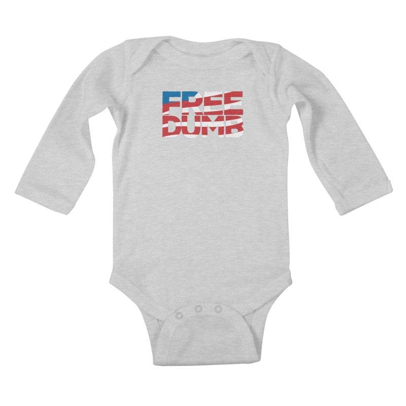 Free Dumb Kids Baby Longsleeve Bodysuit by Puttyhead's Artist Shop