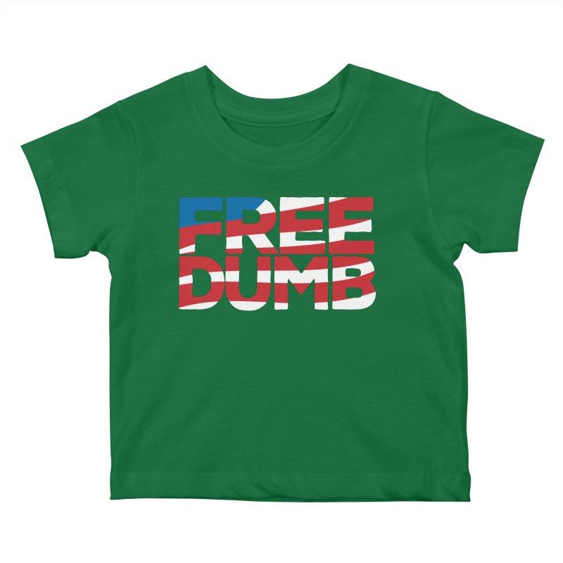 Free Dumb Kids Baby T-Shirt by Puttyhead's Artist Shop