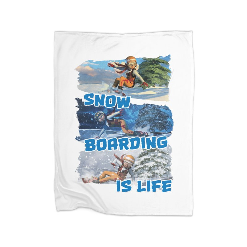 Snowboarding is Life Home Blanket by Puttyhead's Artist Shop