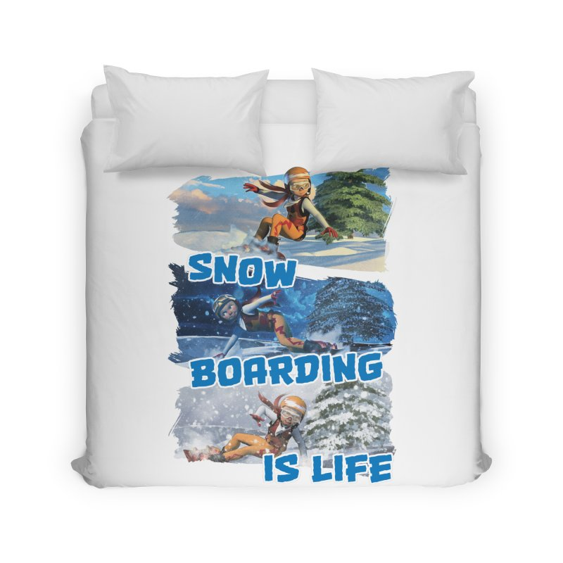 Snowboarding is Life Home Duvet by Puttyhead's Artist Shop
