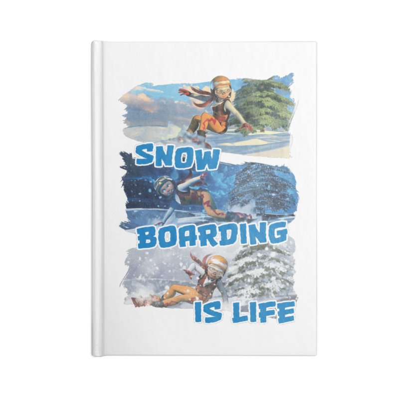 Snowboarding is Life Accessories Notebook by Puttyhead's Artist Shop