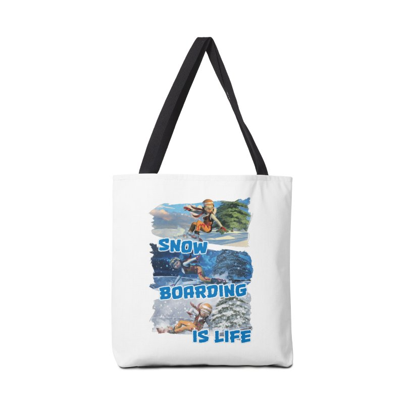 Snowboarding is Life Accessories Bag by Puttyhead's Artist Shop